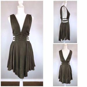 {FREE PEOPLE} Boho Cutout Sides Fit & Flare Dress